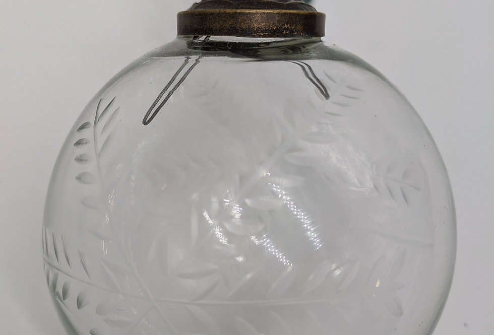 Etched Glass Snowflake Bauble