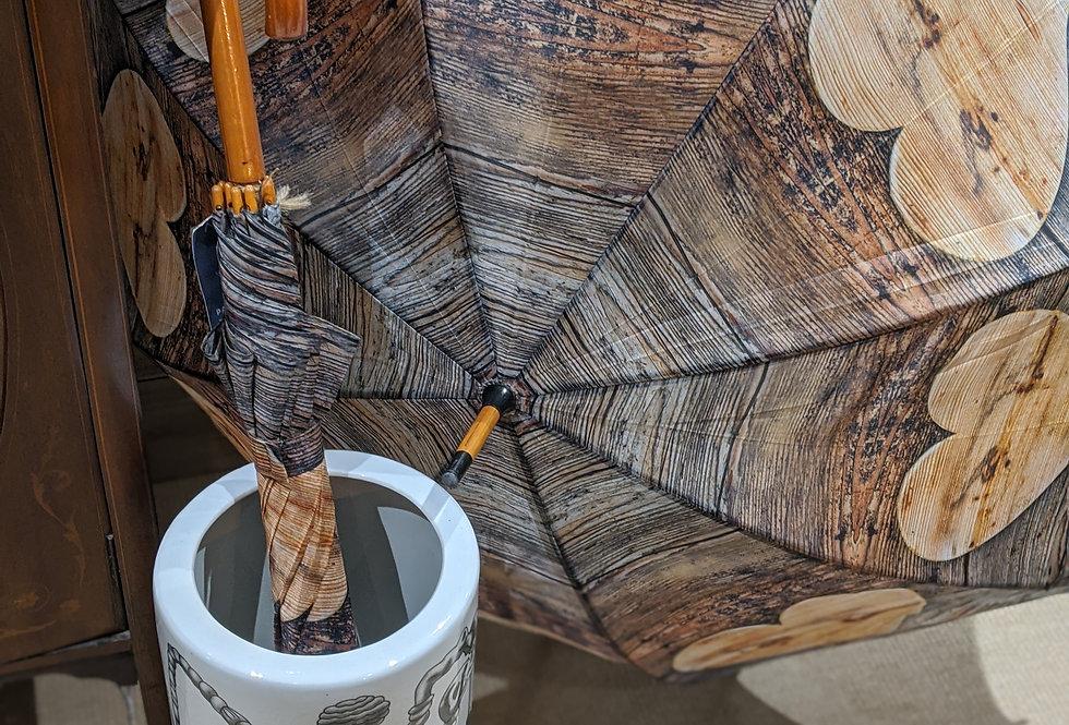 Wooden Heart Umbrella