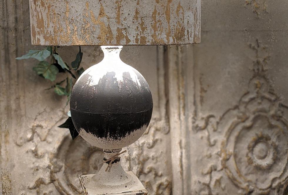 Distressed Metal Table Lamp
