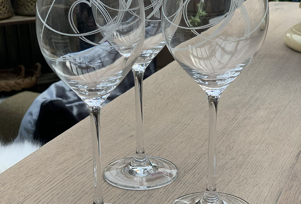 Set Of 6 Swirl Wine Glasses