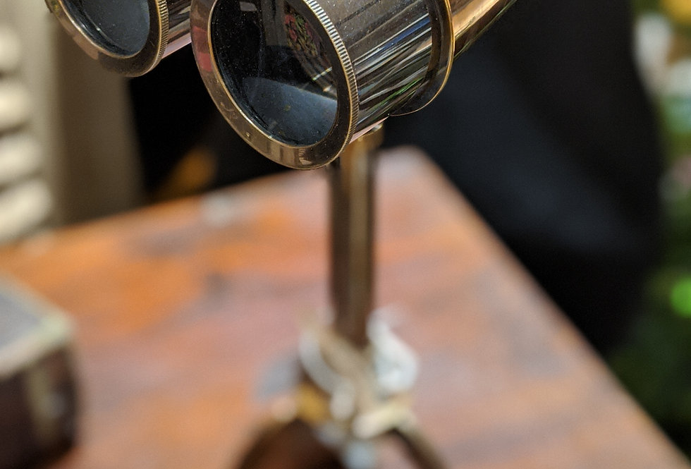 Metal Binoculars with Tripod