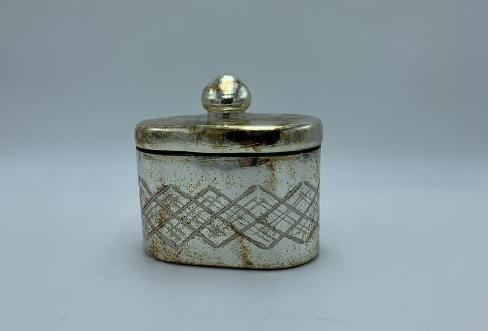 Burnished Trinket Jar With Lid (Small)