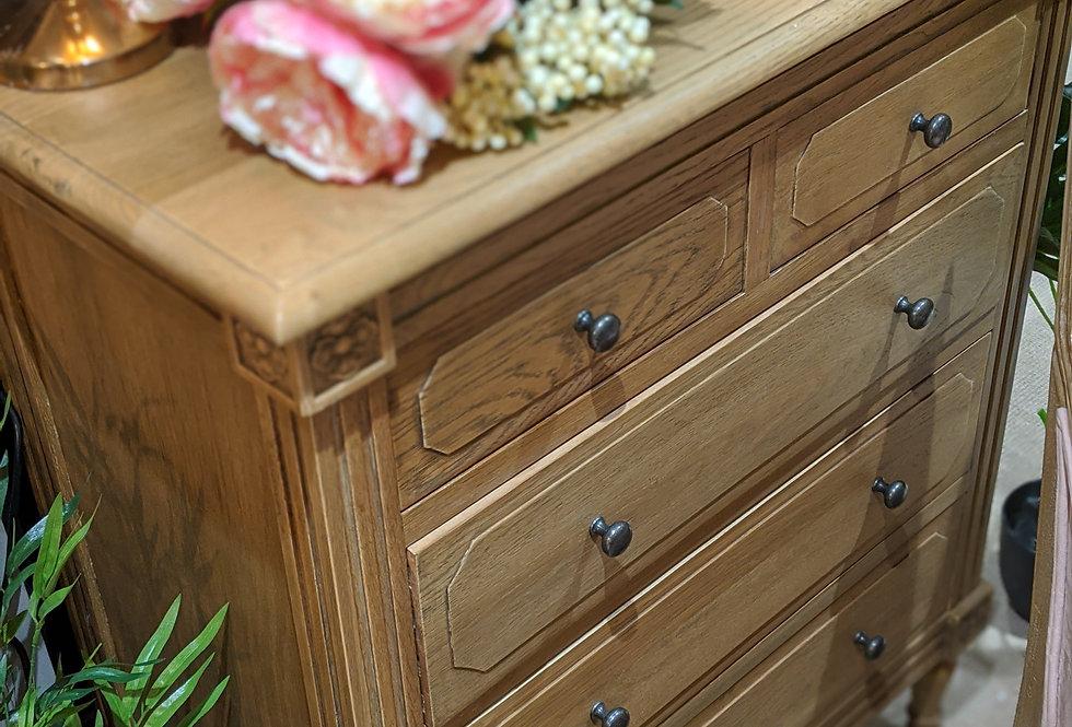 5 Drawer Oak Gustavian Chest