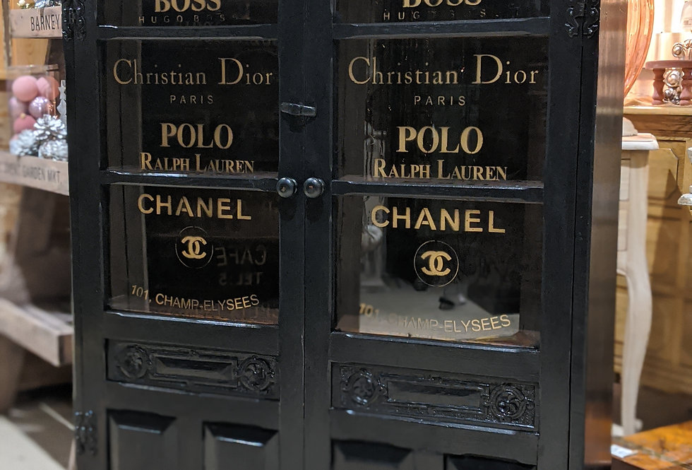 Black Perfume Glass Cabinet