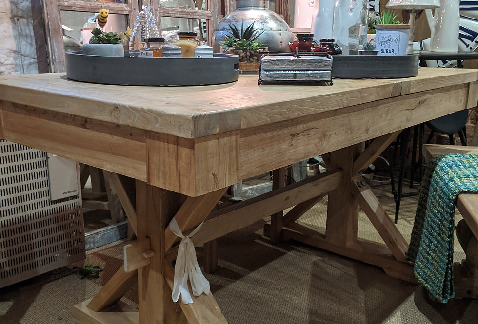 Cross Legged Extending Dining Table