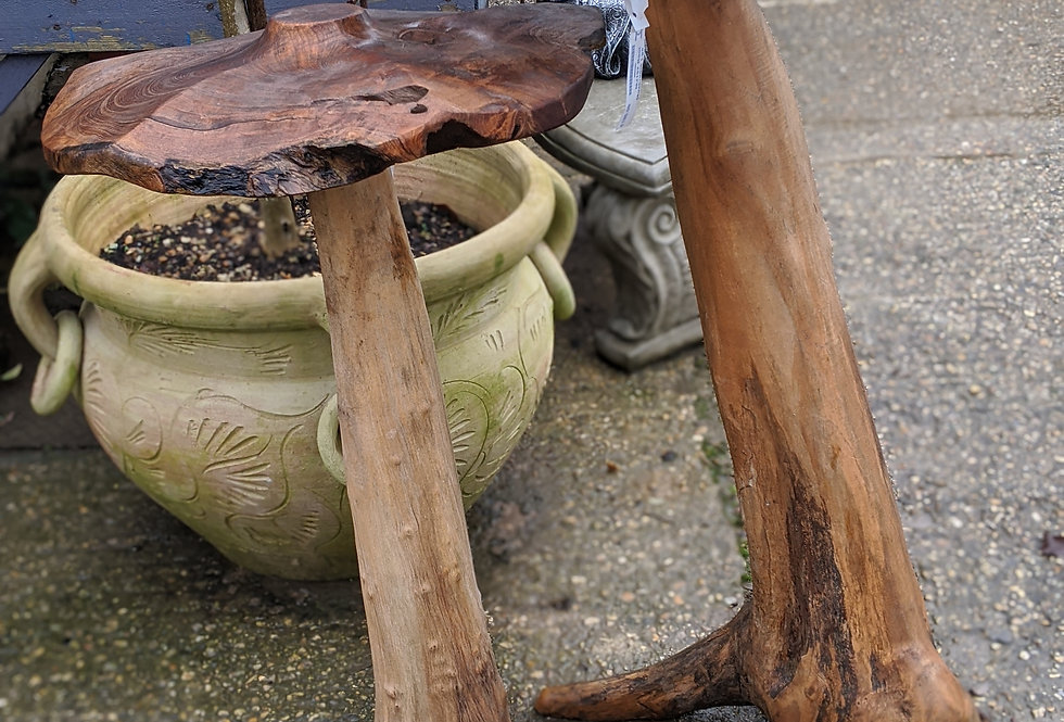 Wooden Garden Mushroom