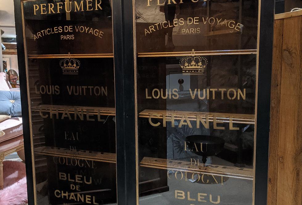 Large Plain Black Perfume Cabinet