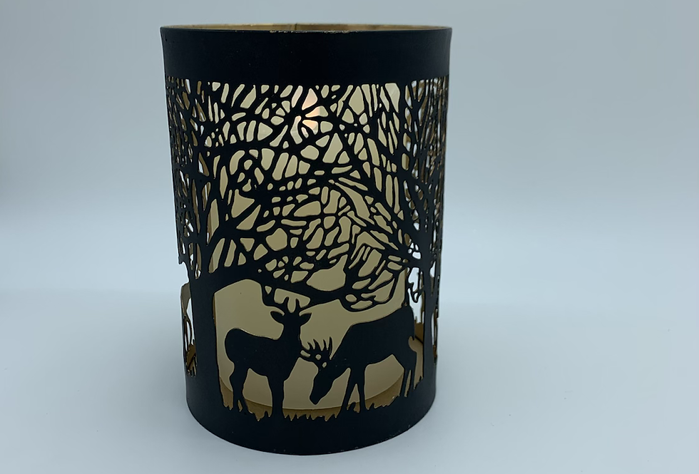 Stag In Forest Candle Holder (Medium)