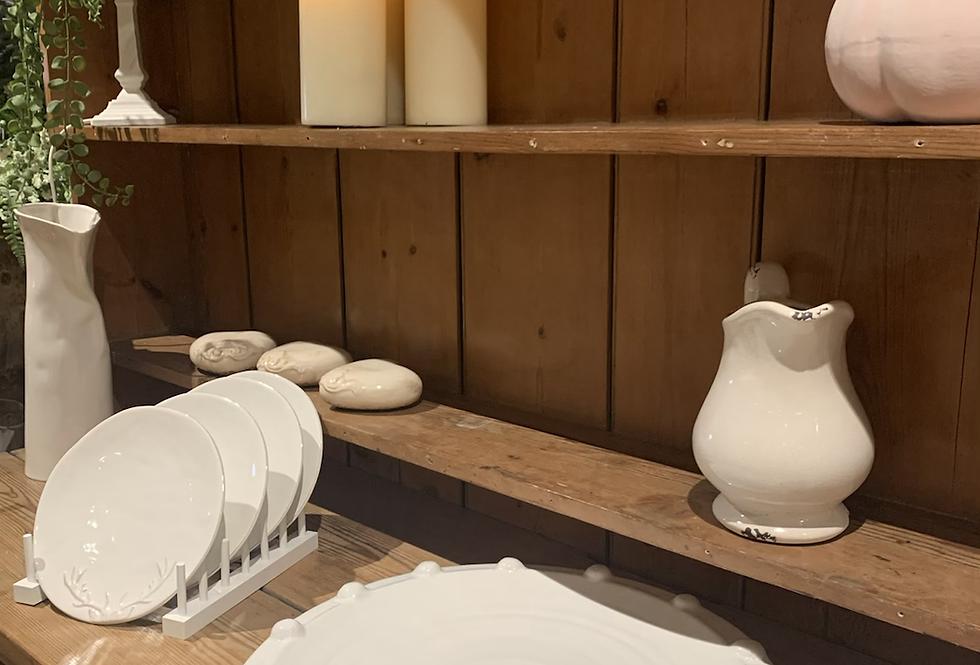 Large White Bobble Platter