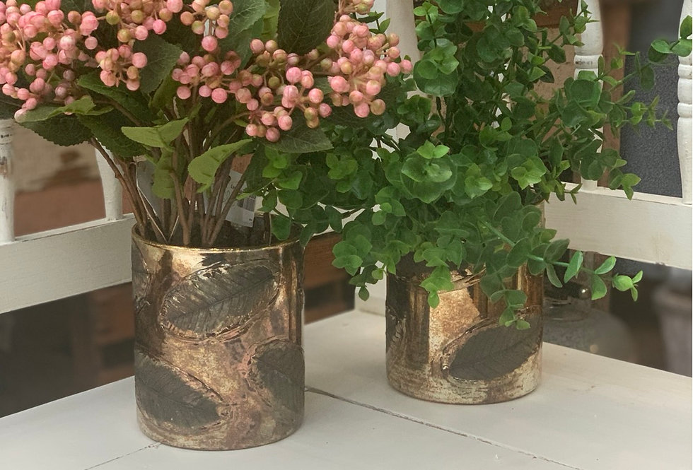 Tall Leaf Vase / Candle Holder