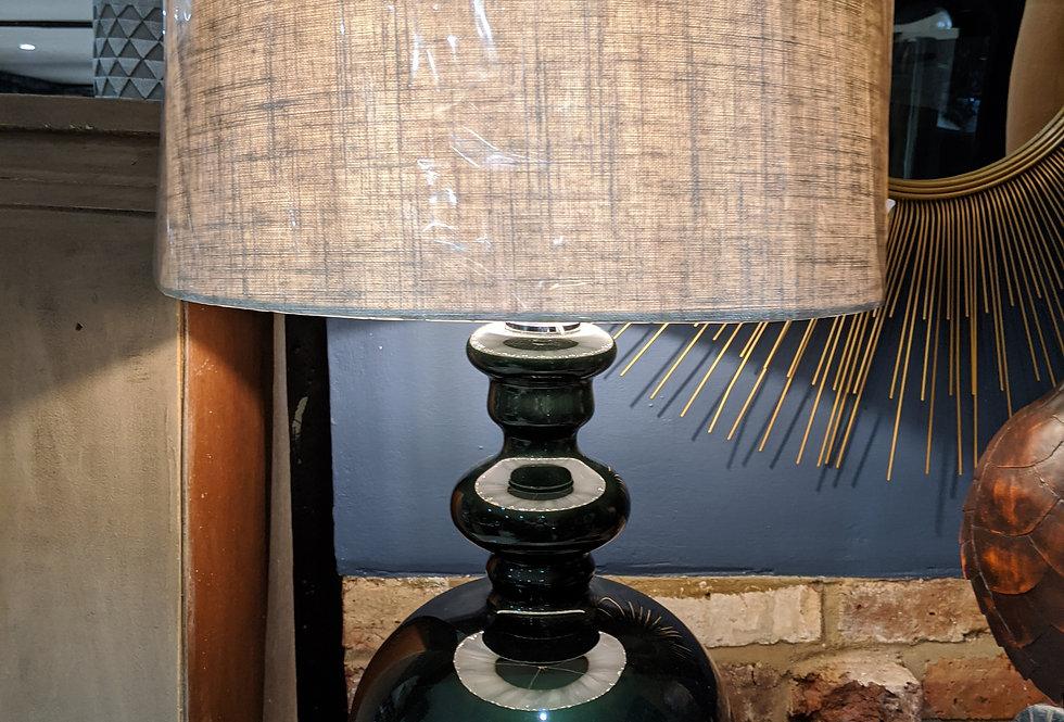 Dark Glass Lamp With Shade