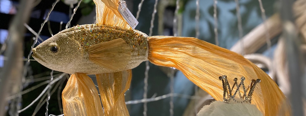 Gold Hanging Fish