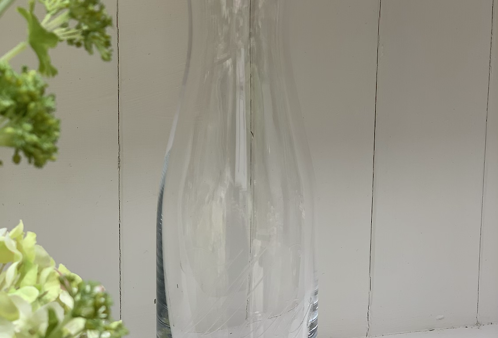 Etched Water Carafe