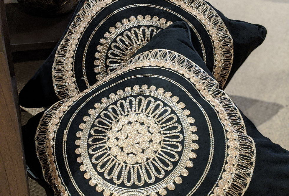 Black and Gold  Deco Cushion
