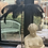 Thumbnail: Black Ostrich Feather Table Light