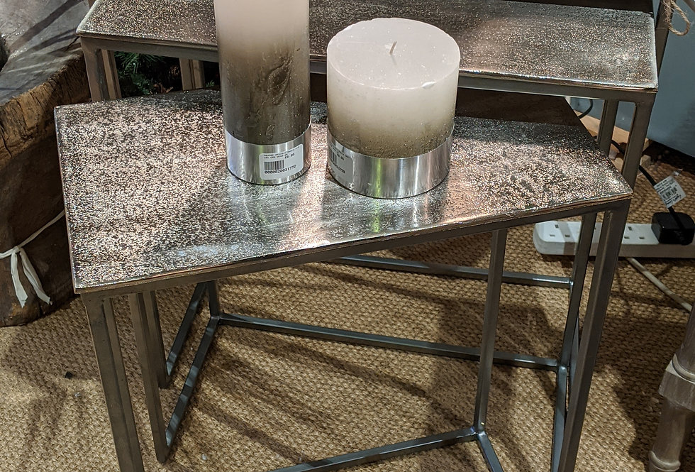 Nest Of Three Metal Side Tables