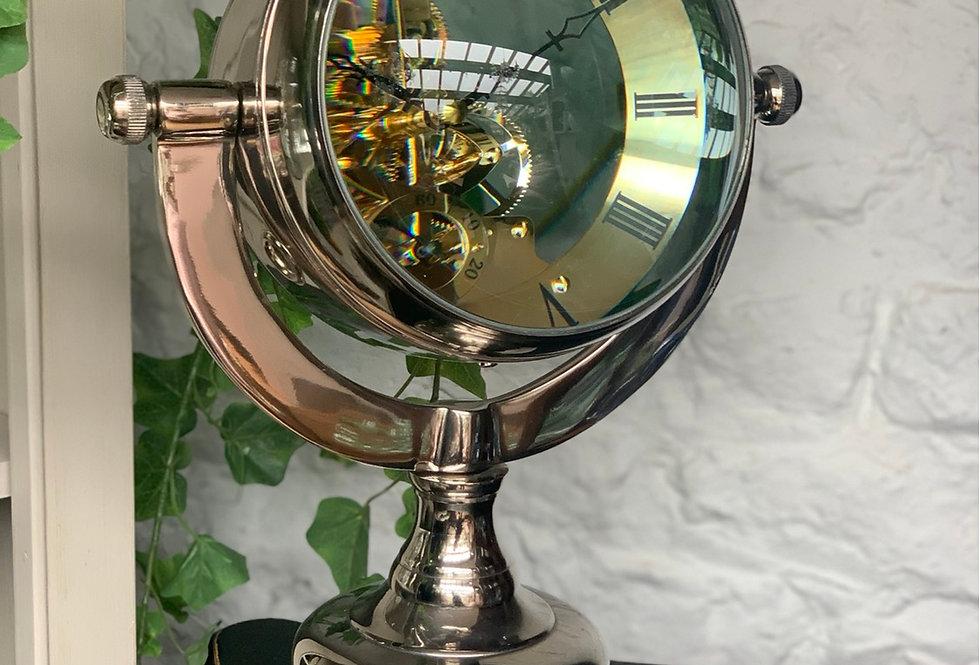 Nickel Table Clock XL