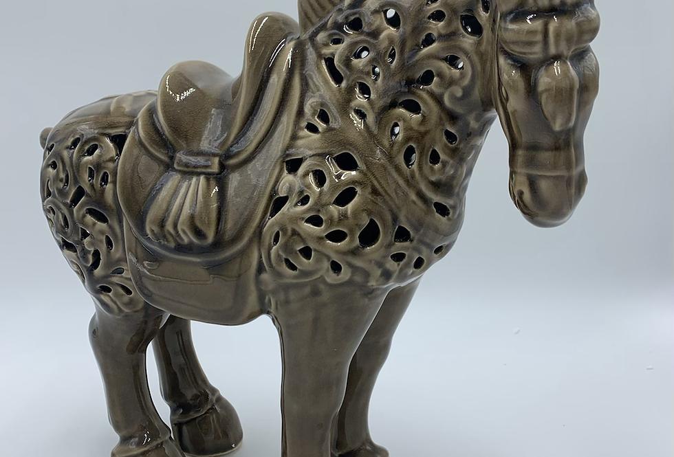 Taupe Ceramic Horse