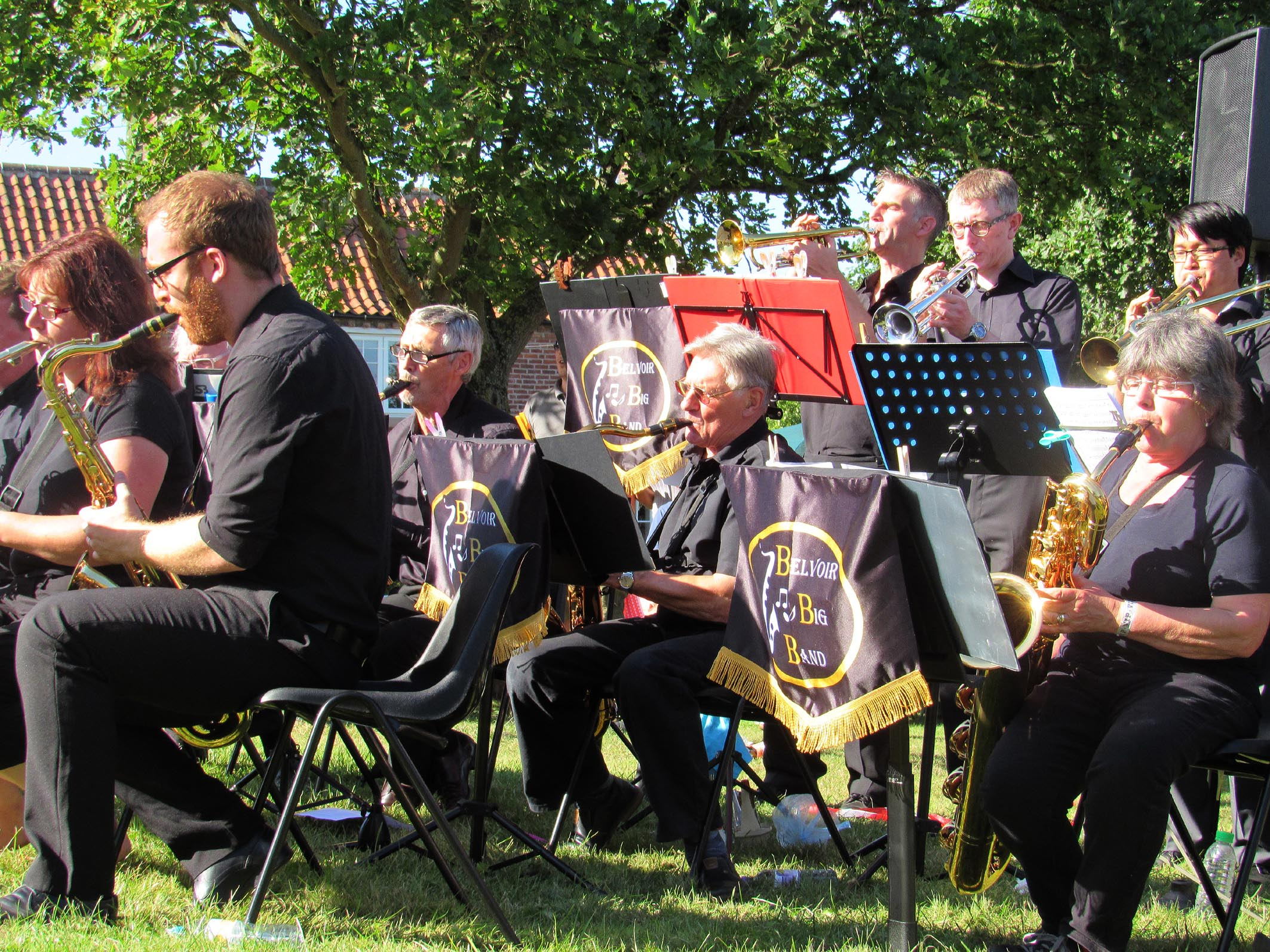 SOME OF THE BELVOIR BIG BAND AT OLD DALBY