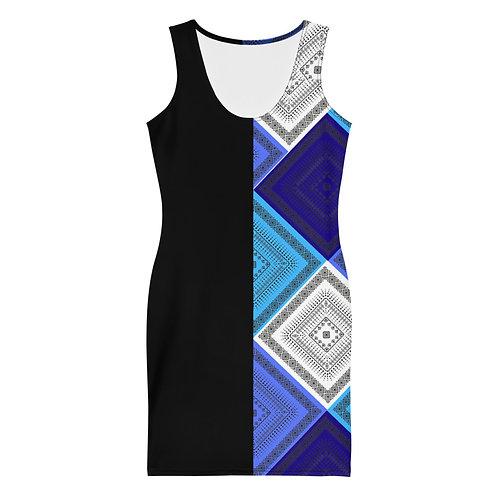 Mid Summer Blue's Dress- Black