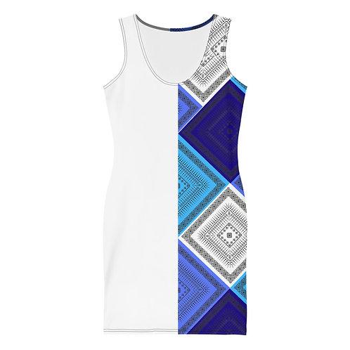 Mid Summer Blue's Dress-White