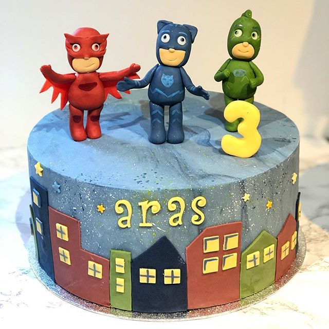 Pjmasks birthday cake for the handsome l