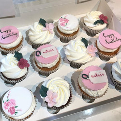 Birthday cupcakes 🌸 #handpainted ._._