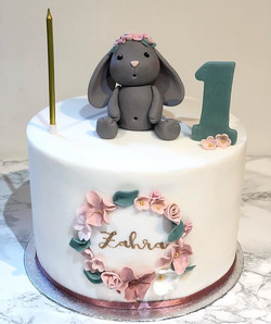 Zahra is one 👧🏻 #bunnycake_._._