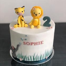 Dieses Jahr hat Sophie eine Torte mit ih