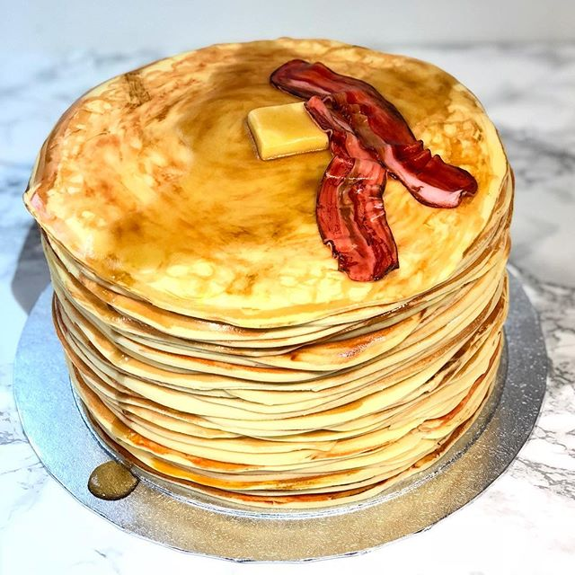 Want some pancakes_ 🥞 #birthdaycake_._.