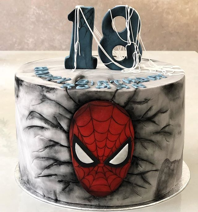 Definitely the coolest spiderman cake I'