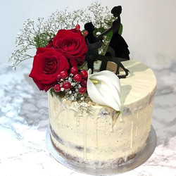 Engagement cake for a very special coupl