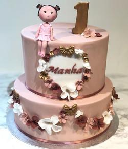 Baby manhas 👧🏽 first birthday cake ♥️