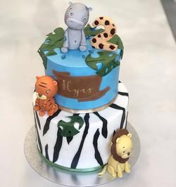 Safari cake for Ilyas's 2nd Birthday 🐅�