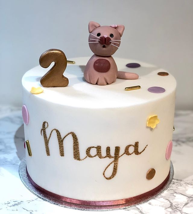 Maya loves cats 🐱 #secondbirthdaycake_.