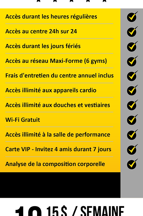 Forfait MFF 6 Gyms
