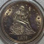 1876 CC Liberty Seated Quarter