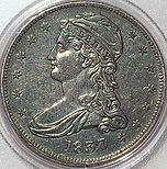 1837 Caped Bust Half Dollar
