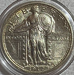 1917 Standing Liberty Quarter Type 1