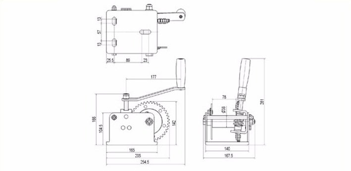 Worm Gear Winch RWW 2000 | endurance-marine