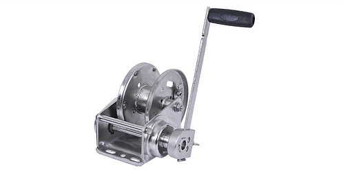 EABW2500SS Stainless Steel Hand Winch with SS Cable and SS Hook