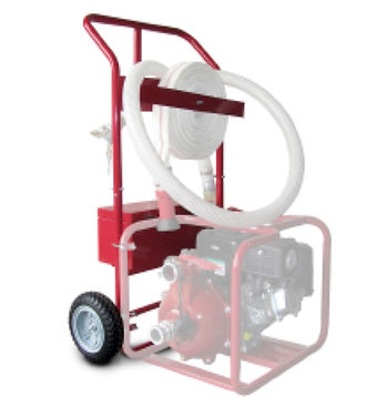 Portable fire pump cart