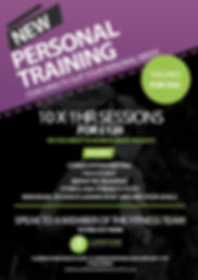 Personal Training Poster, advertising gym sessions