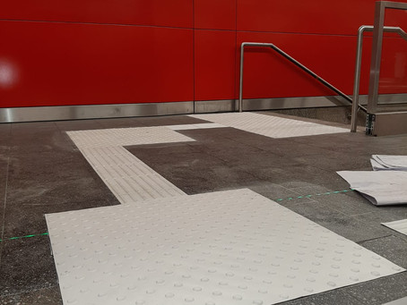 Taktiles Leitsystem Münchner Bahnhof