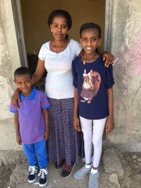 Sami & Gerri with their Nanny
