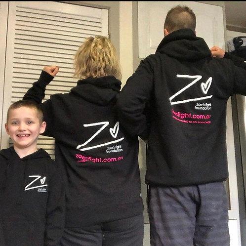 Zoe's Fight Black Hoodie (unisex) : RE-STOCKED