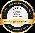 Zertifikat Kundenversprechen