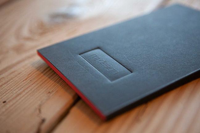 mj.design Notizblock mit Blindprägung und Farbschnitt