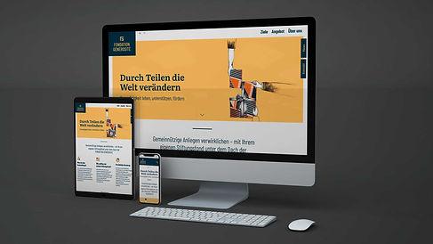 Fondation Générosité Webseite