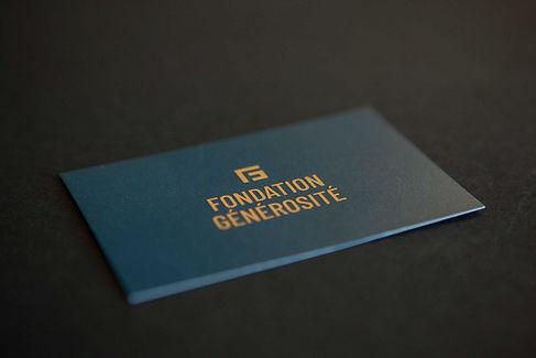 Fondation Générosité Visitenkarten
